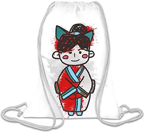 Little Geisha Kordelzug Beutel (Kimono Kordelzug)