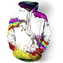 Hip Hop Estilo Colorido Tornado 3D Impresión Sudaderas con Capucha para Hombres Delgados Drawstring Sudadera con
