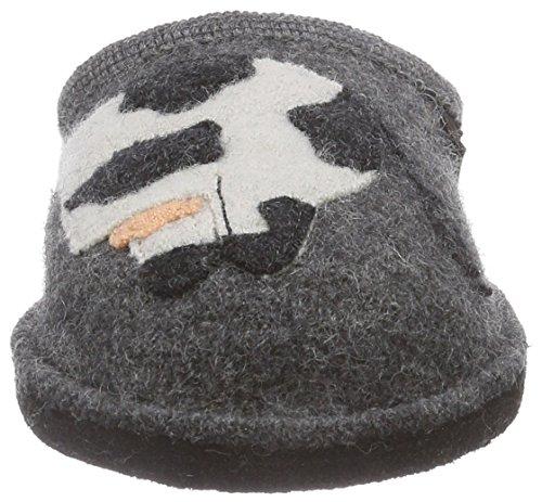 Haflinger Molly, Chaussons courts, non doublées mixte adulte Gris - Grau (4 anthrazit)