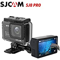 "SJCAM SJ8 Pro 4K 60fps Sport Action Camera Mini DV Ambarella H22 S85 SONY IMX377 Wi-Fi Sports Cam Underwater Camcorder 12MP 30M Waterproof with High-clarity Digital Zoom 2.33"" Dual Touch Screen (Black)"