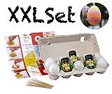 XXL Deko Dekoration Bastel Bemalen Set Ostern für Kinder mit