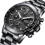 Herren Uhr Luxusmarke LIGE Mode chronographen Quarzuhr Herren Edelstahl wasserdicht Datum Sport Armbanduhr Herren Schwarz Uhr Watches for Men