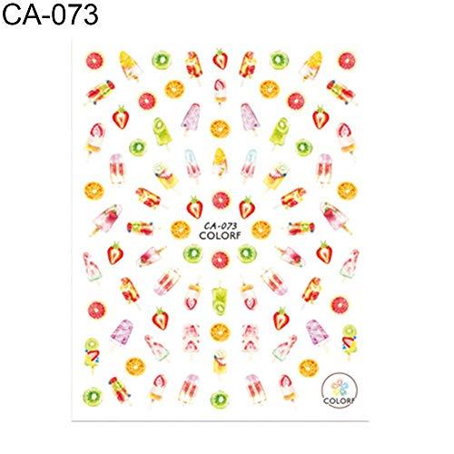 happyhouse009 Nagelsticker-Set für Nagelkunst, Blatt-Poster, Obst-Ahorn-Turm, Nagelaufkleber, Frauen, Wassertransfer-Dekor-Aufkleber, Aufkleber, 3 (Rabatt Halloween Dekor)