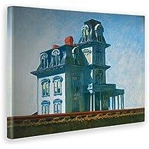 97343807df605 Giallo Bus - Cuadro - Impresion En Lienzo - Edward Hopper - Casa Vicino  Alla Ferrovia