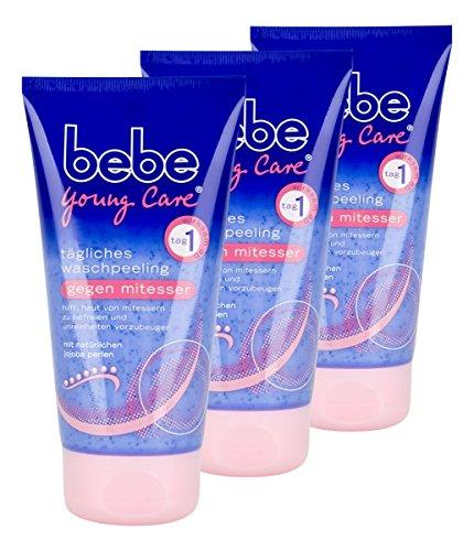 bebe-young-care-tagliches-waschpeeling-gegen-mitesser-3er-pack-3-x-150-ml