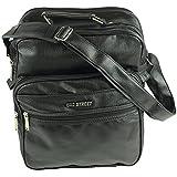 Borsa da viaggio ideale per volo Stabile al lavoro o in borsa a tracolla Messenger Bag Nero verticale