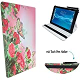 Case cover para Teclast T10Tablet Carcasa Funda Con Touch Pen & Stand Función–10.1pulgadas mariposa Rose 360?