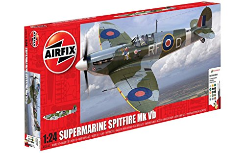 airfix-a50141-battle-of-britain-memorial-flight-supermarine-spitfire-mkvb-124-scale-plastic-model-gi