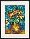 1art1 124061 Vincent Van Gogh - Kaiserkronen In Einer Kupfervase, 1887 Gerahmtes Poster Für Fans Und Sammler 80 x 60 cm