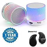 #3: Captcha S530 LED Mini Stereo Portable Wireless Bluetooth Speaker with Mini Wireless Bluetooth Headset - Mi MaX Compatible
