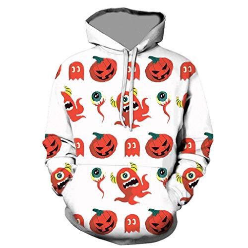 Skeleton Sweatshirt Hoodie Kind Kostüm - Dasongff Herren Kapuzenpullover Hoodie Halloween Cosplay