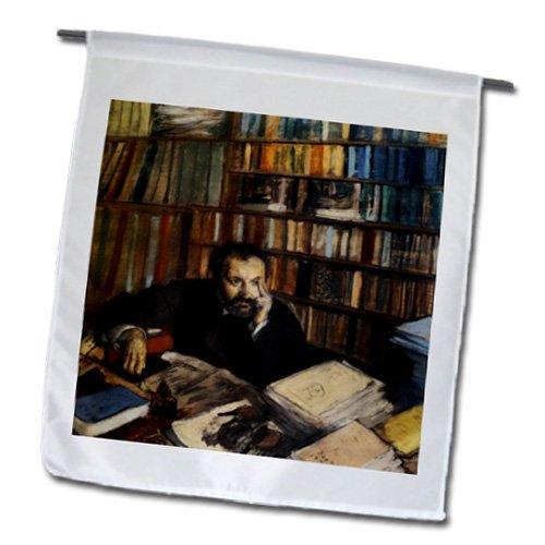 3drose FL 155330_ 1Edmund Duranty 1879Mann in Bibliothek Bild Garden Flagge, 12von 18 (Bilder Bibliothek)