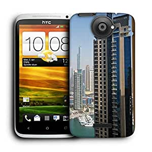 Snoogg Tall Buildings Printed Protective Phone Back Case Cover For HTC One X