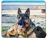 Mausunterlage, Schäferhund-Hundewelpen-niedliche Mausunterlagen, Schäferhund-personalisierte Rechteck-Spiel-Mausunterlagen