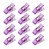 Purple : Approx.50pcs Plastic Sewing Craft Quilt Binding Clips 2.7 x 1cm (Purple)