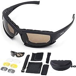 Ciclismo Gafas de Sol moto PolarizadasGafas Deportivas Cómodo Acolchado Proteccion UV 4 Lentes IntercambiablesPara Hombre y Mujer,Ciclismo ,Motocross,Ski,Pesca,Golf, Acampada