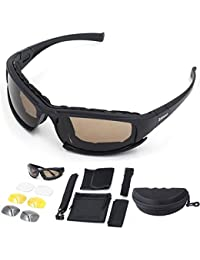 Ciclismo Gafas de Sol moto Polarizadas Gafas Deportivas Cómodo Acolchado Proteccion UV 4 Lentes Intercambiables Para