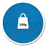 Pigmentpulver, Eisenoxid, Oxidfarbe - 100g (39,90€/kg) im Beutel Farbpigmente, Trockenfarbe für Beton + Wand - Farbe: blau