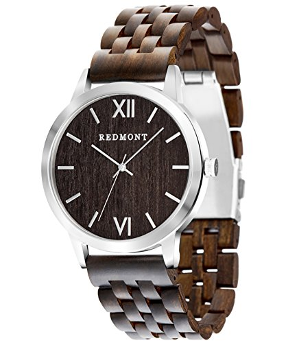 REDMONT Herrenuhr mit Holzarmband Analog Quarz Horizon Collection Sandalwood Edition