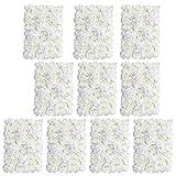 MagiDeal 10 Stück Künstliche Seiden Blume Wand Hochzeit Hauptstraße Dekor-Creme #2