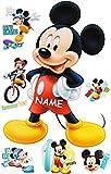 Unbekannt 7 tlg. Set _ Wandtattoo / Sticker -  Mickey Mouse  - Incl. Name - Wandsticke..