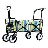 Faltbarer Bollerwagen Handwagen Multifunktion mit Bremse 4 Räder Schwerlast Stahlrahmen Waschbar Oxford-Tuch Hohe Kapazität Draussen, 6 Farben (Farbe : 1#, größe : 85 x 50 x 28cm)