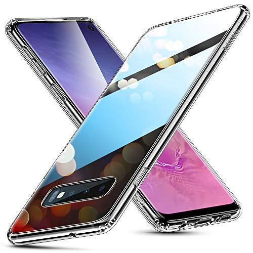 ESR Glashülle kompatibel mit Samsung Galaxy S10 Hülle - 9H Hartglas Handyhülle mit dualer Rückseite - Kratzfeste Schutzhülle mit weichem TPU Bumper für Galaxy S10 - Klar