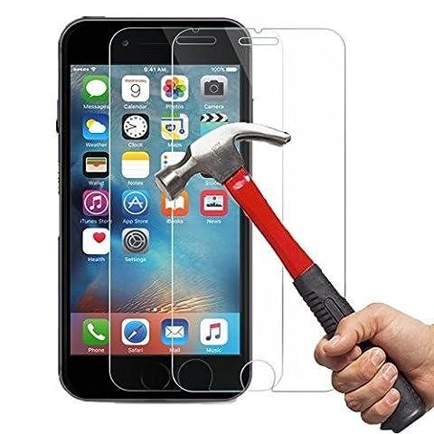 iPhone 6/6S Panzerglas Kapoo Gehärtetem Glas Schutzfolie Hartglas Schutzglas 9H 0,26mm Glas Panzersglas Schutzfolie für iPhone 6/6S[2 Pack]-1 Jahr (Glas Iphone)
