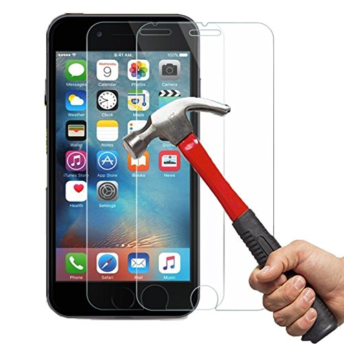 iPhone 6/6S Vidrio Templado Protector de Pantalla,[2 Pack] Kapoo 3D Touch Compatible - Vidrio templado Protector de pantalla de vidrio iPhone 6/6S Trabajo con iPhone 6/6S Caso más protector