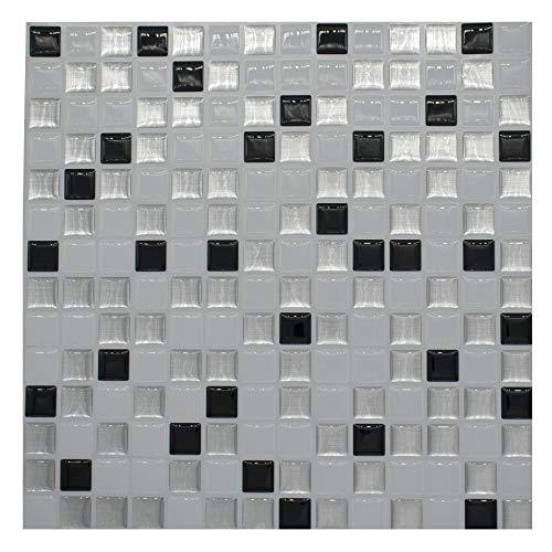 ZCHENG Schälen und Stick Mosaik Fliesen Aufkleber Ziegel Wand Aufkleber DIY Küche Backsplash Badezimmer Home Decor Vinyl selbstklebende 3D Tapete, Mosaic, 1PCS -