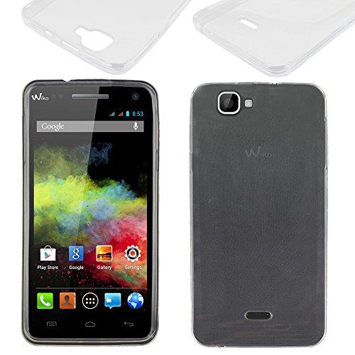 ebestStar - Wiko Rainbow Hülle Rainbow 4G Handyhülle [Ultra Dünn], Premium Durchsichtige Klar TPU Schutzhülle, Soft Flex Silikon, Transparent [Phone: 146 x 74 x 10mm, 5.0'']