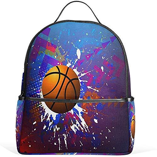 Kinderrucksäcke,Hilfreiche Rucksäcke des Basketball-Aquarell-Für Das Sportliche Wandern Athletisch