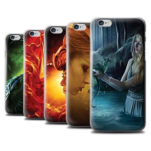 Officiel Elena Dudina Coque / Etui pour Apple iPhone 6+/Plus 5.5 / Pack 5pcs Design / Dragon Reptile Collection Pack 5pcs