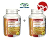 Simply Supplements Chewable Vitamin C 1000mg Bundle Deal 240 Tablets in total
