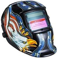 KKmoon Solar soldadura de Oscurecimiento Automático de Casco Soldadores Máscara Arc Tig Mig de Molienda (negro)