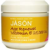 Jason Moisturizing Creme Vitamin E Age Renewal Fragrance Free 25000 Iu 4 Ounce(4 Pack)
