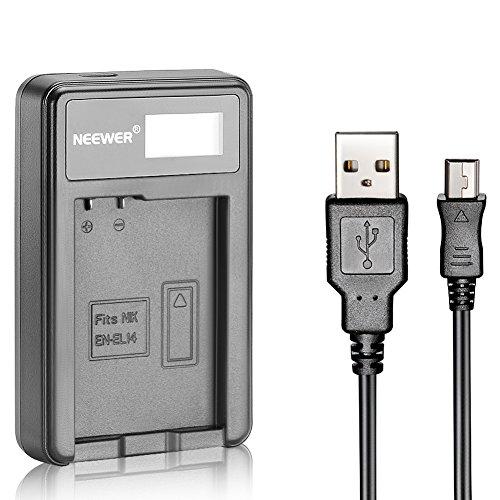 Neewer USB-Ladegerät für EN-EL14 Akku für Nikon Coolpix P7000 P7100 D3100 D3200 D3300 D5100 D5200 D5300