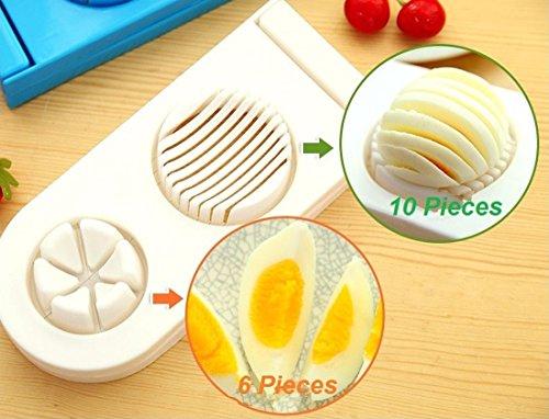 Evana 2 in1 Multifunction Egg Slicer Kitchen Egg Cutter Sectioner Cutter Mold Maker Flower Edges Cooking Tools