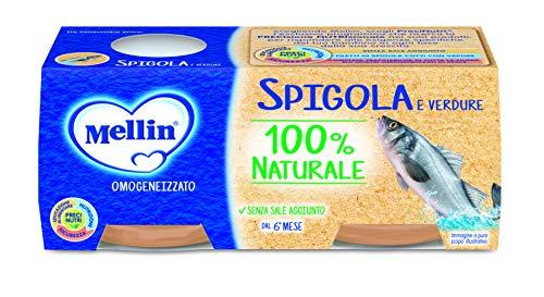 Mellin Omogeneizzato di Spigola e Verdure 100% Naturale 24 Vasetti da 80 gr