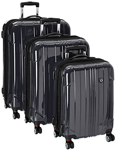 travelers-choice-sedona-100-pure-polycarbonate-3-piece-expandable-spinner-luggage-in-black