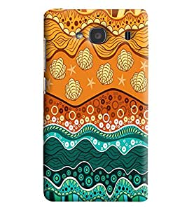Blue Throat Geometrical Abstract Printed Designer Back Cover/Case For Xiaomi Redmi 2S