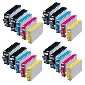 Rechargeables Ti-Sa Basic Cartouche d'encre pour HP 934x l 934XL 935x l 935XL pour HP Officejet Pro 6820–Black–Contenu: env. 55ml (07) 20x Tintenpatrone - 8x Bk, je 4x Cy, Ma, Ye