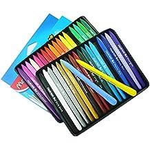 Sotoboo 36 colores Crayones de cera, no tóxico, plástico borrable, plastidecor para colorear