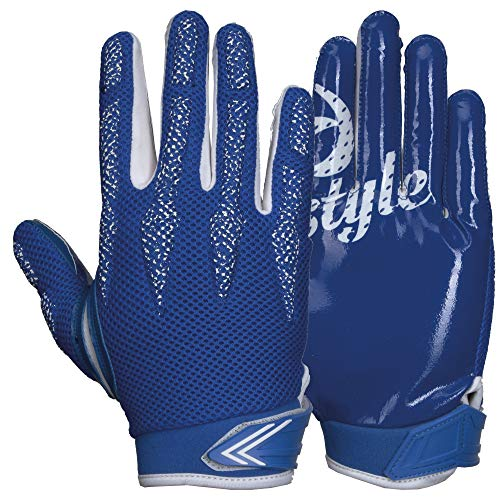 Prostyle Arrow, leicht gepolsterte Football Receiver Handschuhe - royal Gr. M