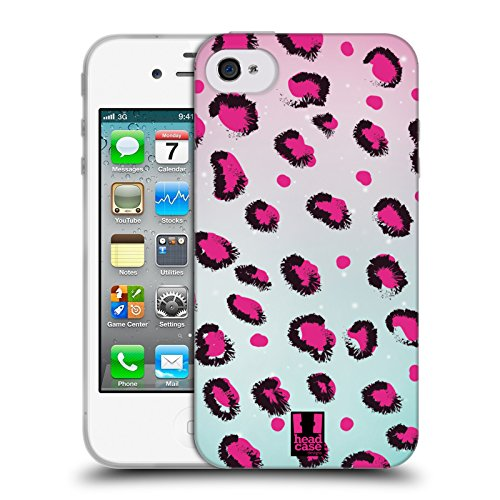 Head Case Designs Favoloso Sirene Affascinanti Cover Morbida In Gel Per Apple iPhone 7 Plus / 8 Plus Leopardo