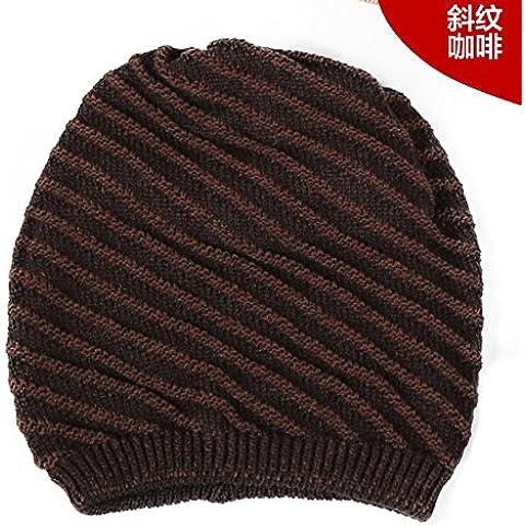 YangR*Sombreros hombres otoño invierno hembra doble sombrero de tejer street dance hip hop tapón de cabeza hueca de la tapa caliente , marrón
