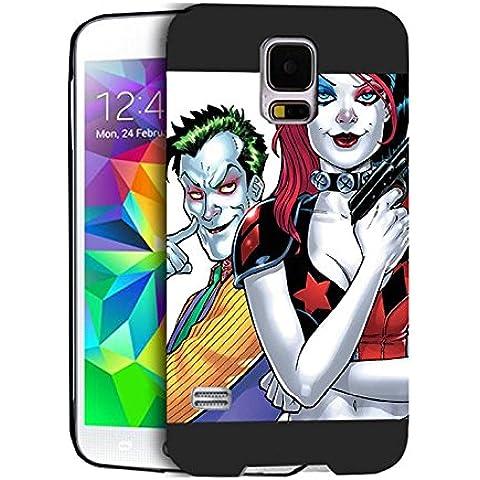 Joker And Harley Case Cover Galaxy S5 I9600 Joker And Harley - [ DC Comics ] Samsung S5 I9600 Cabina telefonica CustodiaCase Durevole For Ragazzi Joker And Harley Samsung Galaxy S5 I9600 Back Cover