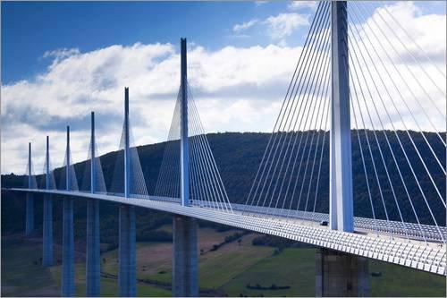 Posterlounge Alu Dibond 120 x 80 cm: Millau Viadukt Brücke von Walter Bibikow/Danita Delimont