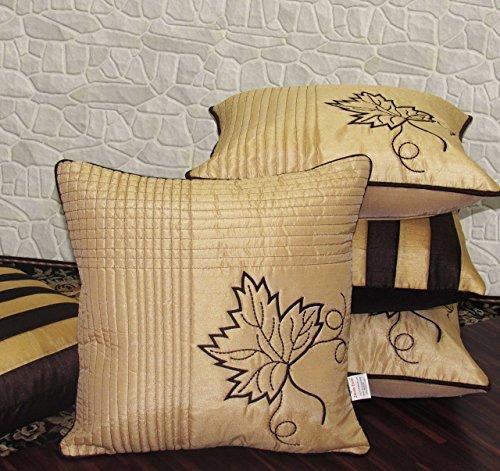Zikrak Exim Set of 5 Embroiderd Cushion Covers 40X40 cm (16