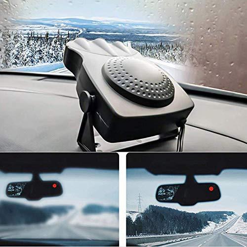 FCX-HEATER Auto Riscaldamento e Raffreddamento 2 in 1 per Auto, Ventola di Raffreddamento e Riscaldamento per Auto in Ceramica, sbrinatore, antigelo e antiappannante, Parabrezza 12 V 150 W,Black